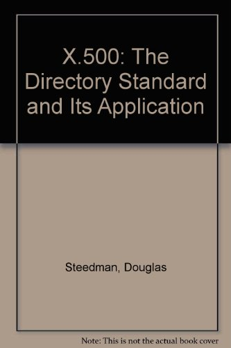 9781871802245: X.500: The Directory Standard and Its Application
