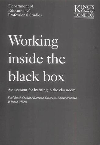 9781871984392: Working Inside the Black Box: Assessment for Learning in the Classroom