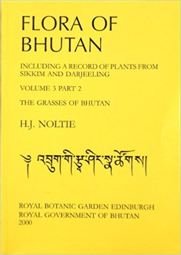 9781872291635: Flora of Bhutan: v. 3, Pt. 2: Including a Record of Plants from Sikkim and Darjeeling the Grasses of Bhutan