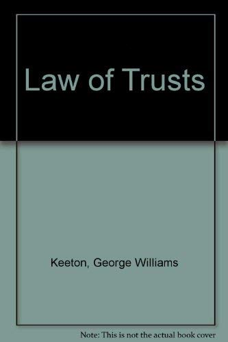 9781872328362: Law of Trusts