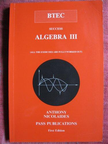 9781872684130: BTEC: Algebra III