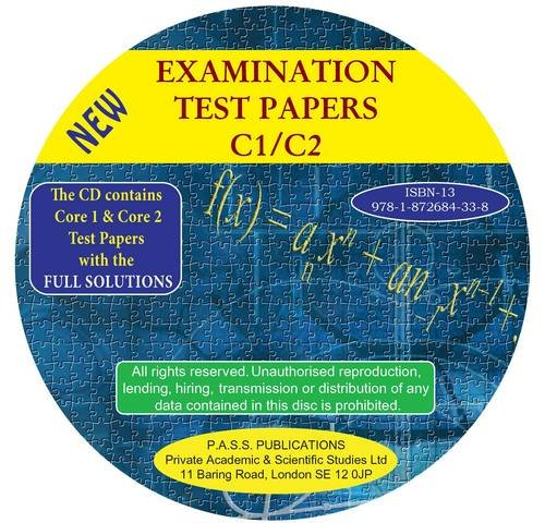 9781872684338: Examination Test Papers C1/C2 with Full Solutions: Papers C1/C2