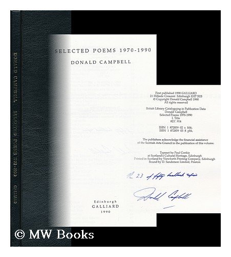 9781872859033: Selected Poems, 1970-90