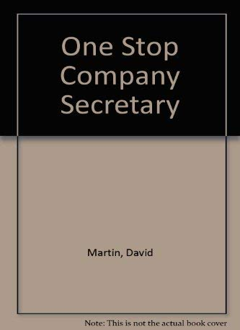 9781872860923: One Stop Company Secretary