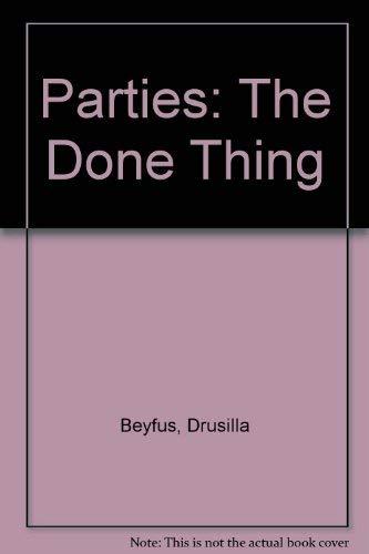 Parties (9781872947068) by Drusilla Beyfus