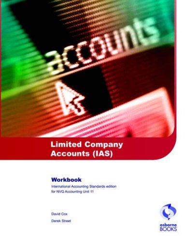 9781872962887: Limited Company Accounts (IAS) Workbook