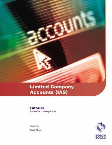 9781872962931: Limited Company Accounts (IAS) Tutorial