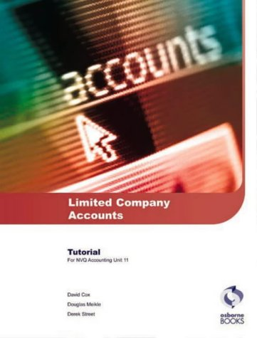 9781872962962: Limited Company Accounts Tutorial: AAT/NVQ Accounting