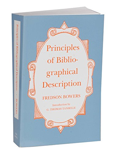 9781873040027: Principles of Bibliographical Description