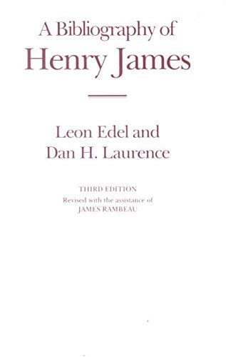 9781873040539: A Bibliography of Henry James (St. Paul's Bibliographies)
