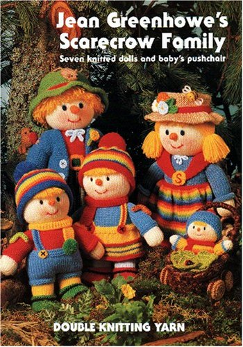 9781873193013: Jean Greenhowe's scarecrow family: Seven knitted dolls and baby's pushchair