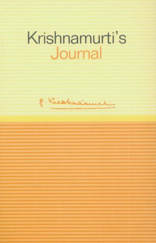 9781873263792: Krishnamurti's Journal