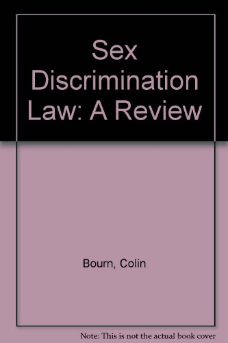 9781873271179: Sex Discrimination Law: A Review