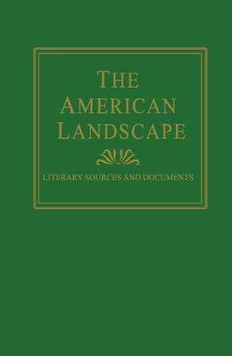 9781873403051: The American Landscape (Sources and Documents)