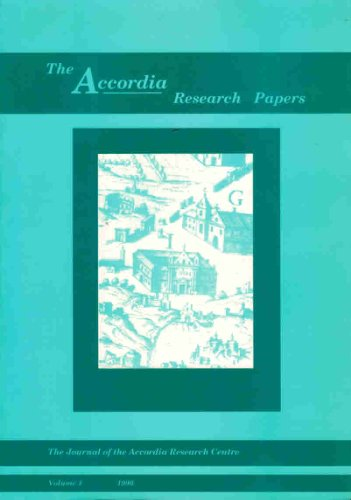The Accordia Research Papers, Volume 1: Herring, Edward Whitehouse Ruth