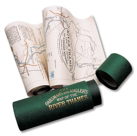 9781873590027: The Oarsman's and Angler's Map of the River Thames 1893: From Its Source to London Bridge