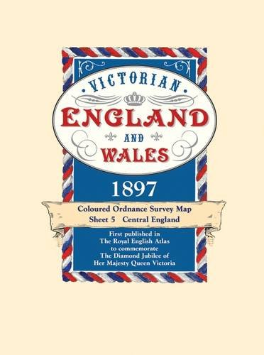 Victorian England and Wales 1897 Coloured Ordnance: J G Bartholomew