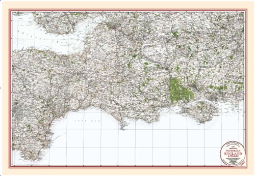 9781873590584: Central South - Coloured Victorian Map 1897 (Victorian Maps, England and Wales 1897)
