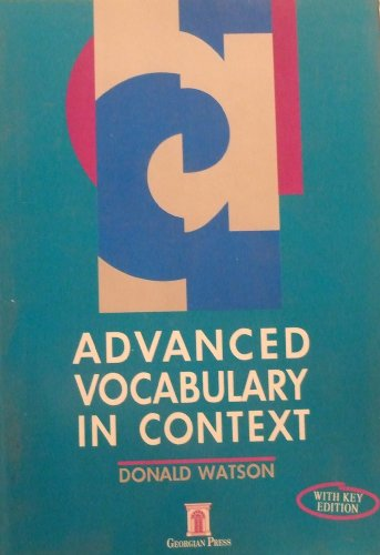 9781873630136: Advanced Vocabulary in Context: with Key