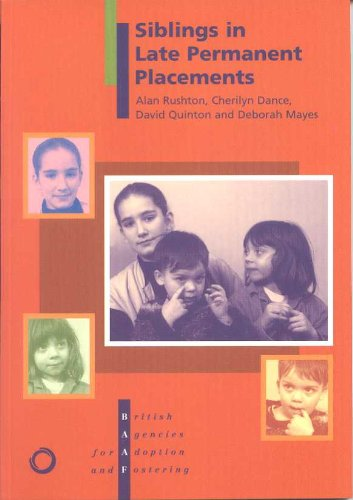 9781873868973: Siblings In Late Permanent Placement