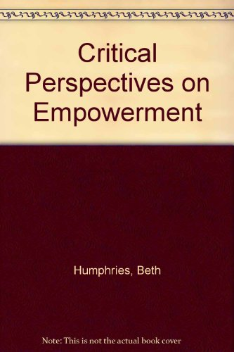 9781873878507: Critical Perspectives on Empowerment