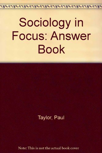 Sociology in Focus: Answer Book: Pilkington, Andrew