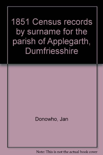 1851 Census records by surname for the parish of Applegarth, Dumfriesshire