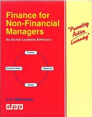 9781873981061: Finance for Non-financial Managers: An Active-learning Approach (Promo active learning)