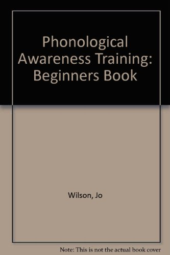 9781874026211: Phonological Awareness Training: Beginners Book