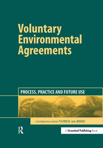 9781874719410: Voluntary Environmental Agreements: Process, Practice and Future Use