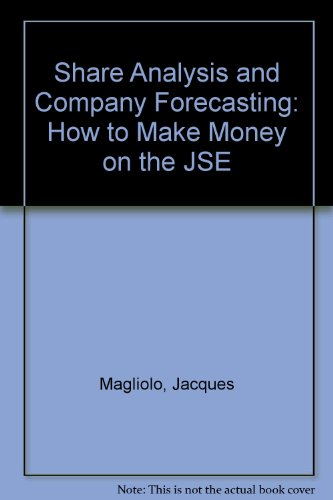 9781875015191: Share Analysis and Company Forecasting: How to Make Money on the JSE