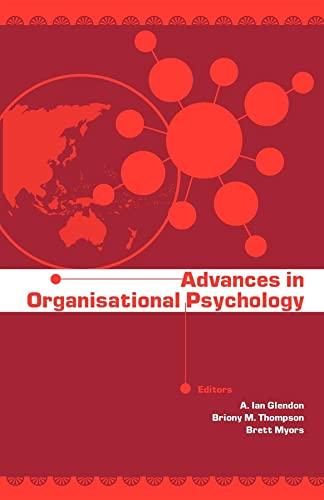 Advances in Organisational Psychology: Glendon, Ian A.