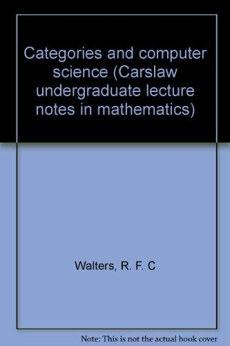 9781875399017: Categories and computer science (Carslaw undergraduate lecture notes in mathematics)