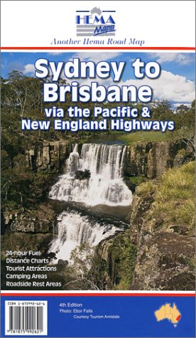 9781875992621: Carte routière : Sydney to Brisbane (en anglais)