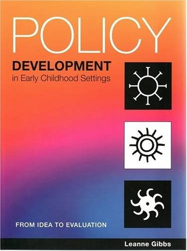 9781876138288: Policy Development in Early Childhood Settings