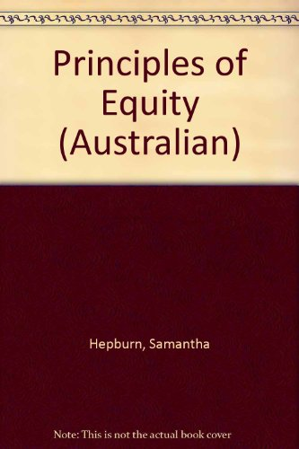 9781876213077: Principles of Australian Equity and Trusts Law