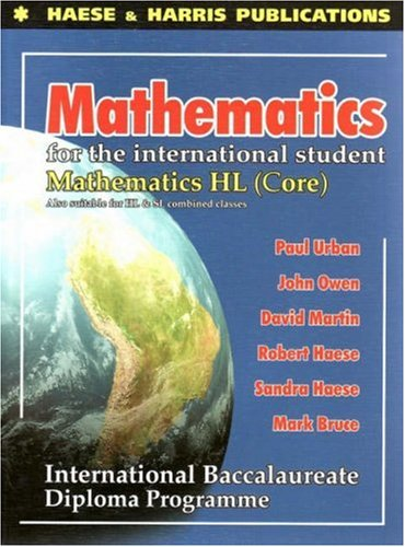 9781876543099: Mathematics for the International Student: Mathematics HL - International Baccalaureate Diploma Programme