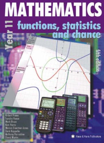 9781876543259: Mathematics for Year 11: Functions, Statistics & Chance