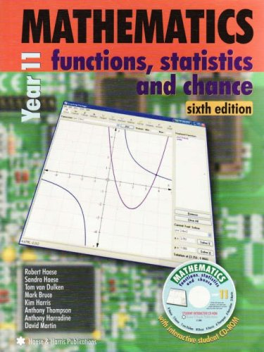 9781876543648: Mathematics for Year 11 and 12: Functions, Statistics and Chance