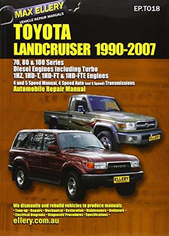 9781876720018: Toyota Landcruiser 1990-2007 Automobile Repair Manual: Diesel Engines including Turbo