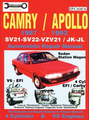 Toyota Camry/Apollo 1987-1992 Automobile Repair Manual (Paperback): Max Ellery