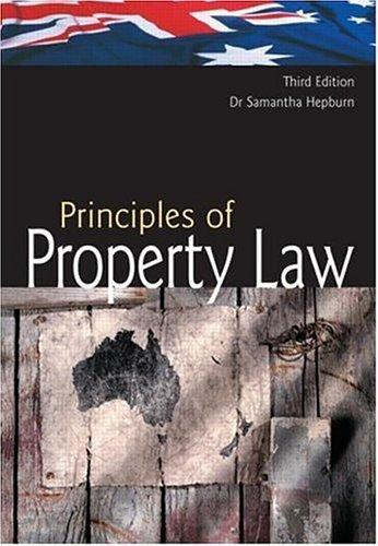9781876905187: Australian Principles of Property Law