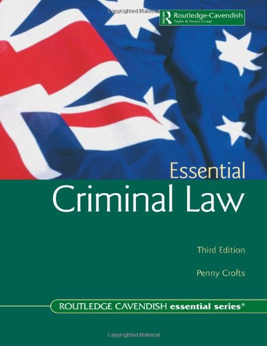 9781876905224: Essential Criminal Law: third edition (Australian Essential Series)