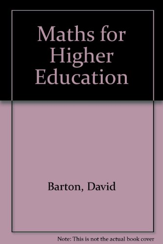 9781877258831: Maths for Higher Education