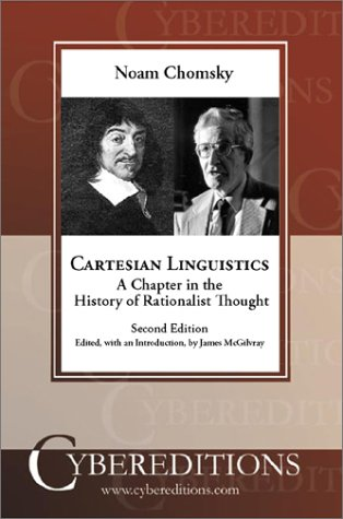 9781877275456: Cartesian Linguistics: A Chapter in the History of Rationalist Thought