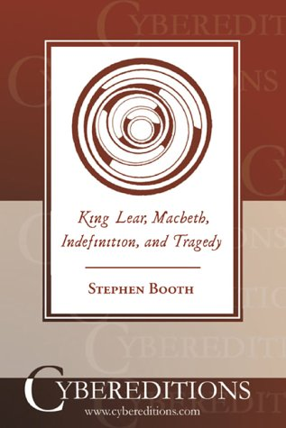 9781877275517: King Lear, Macbeth, Indefinition, and Tragedy