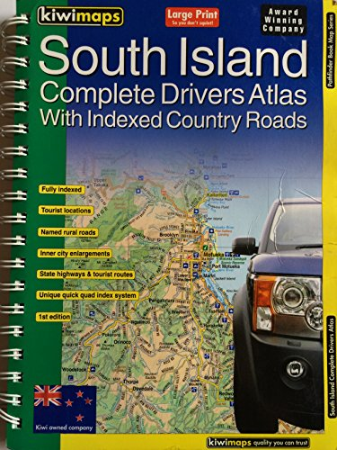 9781877358517: South Island Complete Drivers Atlas: With Indexed Country Roads