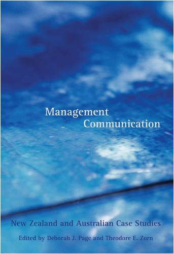9781877371356: Management Communication: New Zealand and Australian Case Studies