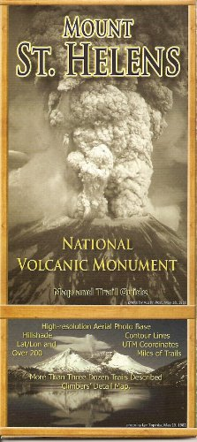 9781877648007: Mount St. Helens National Volcanic Monument, Map and Trail Guide