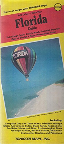 9781877651489: Full color-state map, Florida guide: Extra large scale ... featuring separate maps of Florida's major metropolitan areas : including complete city and town index ... museums